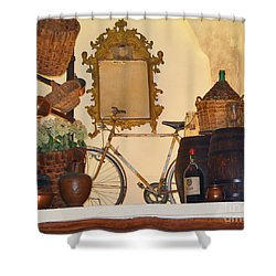 Shower Curtain featuring the photograph Italian Osteria by Frank Stallone