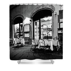 Italian Restaurant In Lucca, Italy Shower Curtain