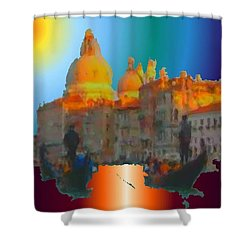 Italian Sunrise Shower Curtain