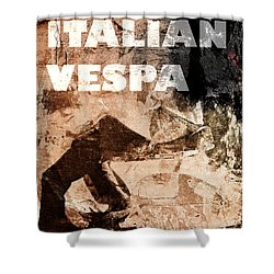 Italian Vespa Shower Curtain
