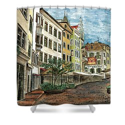Italian Village 1 Shower Curtain by Debbie DeWitt