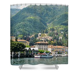 Italian Village On Lake Como Shower Curtain