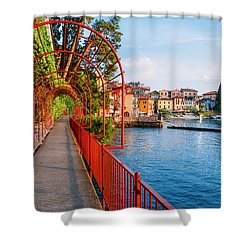 Italian Walk Of Love  Shower Curtain