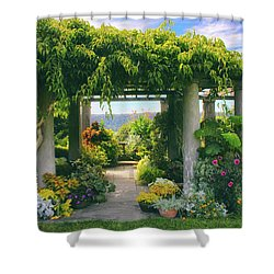 Italianate Terrace Shower Curtain by Jessica Jenney