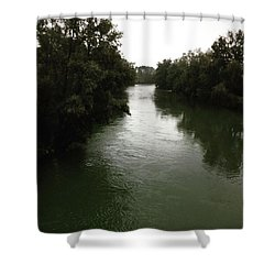 #italy #crema #cremona #river #tree Shower Curtain