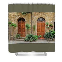 Italy - Door Seventeen Shower Curtain