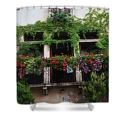 Shower Curtain featuring the photograph Italy Veneto Marostica Main Square by Frank Stallone