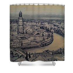 Italy Verona Shower Curtain by Maja Sokolowska
