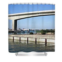 Itchen Bridge Southampton Shower Curtain by Terri Waters