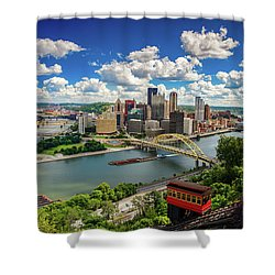 Shower Curtain featuring the photograph It's A Beautiful Day In The Neighborhood by Emmanuel Panagiotakis