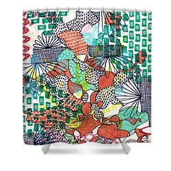 It's A Jungle Out There Shower Curtain by Lisa Noneman