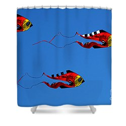 It's A Kite Kind Of Day Shower Curtain by Clayton Bruster