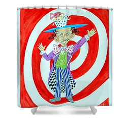 It's A Mad, Mad, Mad, Mad Tea Party -- Humorous Mad Hatter Portrait Shower Curtain