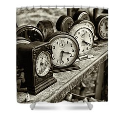 It's About Time Shower Curtain by John Hoey