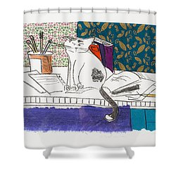 Its All About Me Shower Curtain by Leela Payne