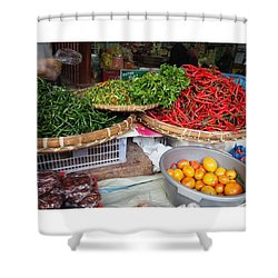 Spicy Chili Shower Curtain