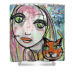 It's Amazing How Much I Love My Cat Shower Curtain by Laurie Maves ART