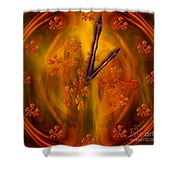 It's Autumn Time Shower Curtain by Giada Rossi
