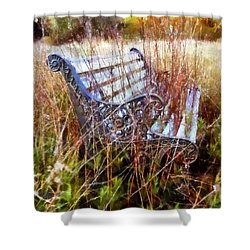 It's Been Awhile - Park Bench Shower Curtain