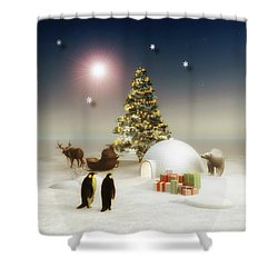It's Christmas Time Shower Curtain