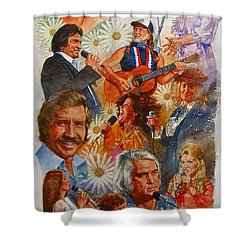 Its Country 1 Shower Curtain by Cliff Spohn