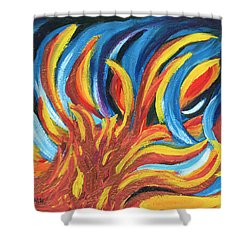 Its Elemental Shower Curtain by Ania M Milo