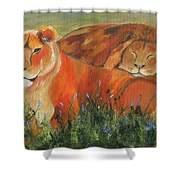 Shower Curtain featuring the painting It's Good To Be King by Jamie Frier