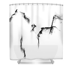 Shower Curtain featuring the painting Its Just A Little Sketch by Frances Marino