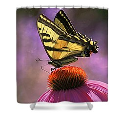 It's Lonely At The Top Shower Curtain by Donna Kennedy