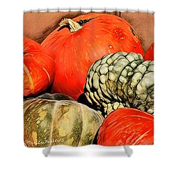 It's Pumpkin  Season Shower Curtain by MaryLee Parker