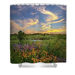 It's Time To Relax Shower Curtain