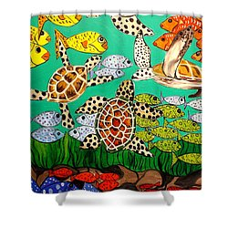 It's Turtle Time Shower Curtain