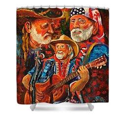 It's Willie Shower Curtain by Ken Pridgeon