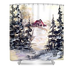 It's Winter - 2 Shower Curtain by Dorothy Maier