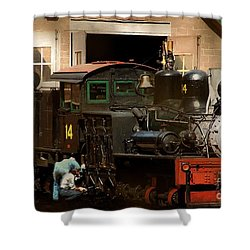 I've Been Working On The Railroad Shower Curtain by RC DeWinter