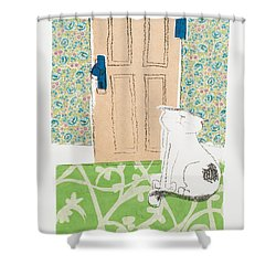 Ive Got Places To Go People To See Shower Curtain by Leela Payne