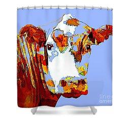 Purple Cow Shower Curtain