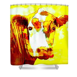 Yellow Cow Shower Curtain
