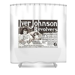 Iver Johnson Revolvers Shower Curtain
