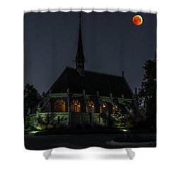 Ivy Chapel Under The Blood Moon Shower Curtain