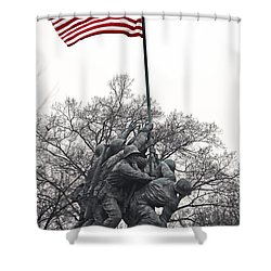 Shower Curtain featuring the photograph Iwo Jima Memorial by Mitch Cat