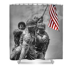 Iwo Jima Shower Curtain