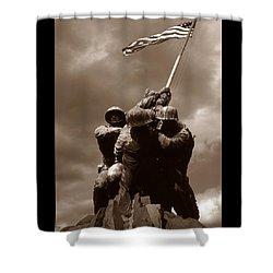 Iwo Jima War Memorial Washington Shower Curtain