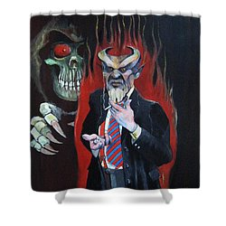 Ix-xitan Shower Curtain