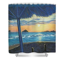 Shower Curtain featuring the painting Ixtapa by Susan DeLain