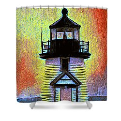 Shower Curtain featuring the painting Iyanough At Brant Point by Jack Torcello