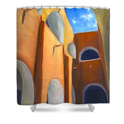 Izamal - Monastery San Antonio De Padua  Shower Curtain