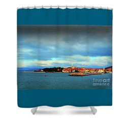 Izola From The Marina Shower Curtain by Graham Hawcroft pixsellpix