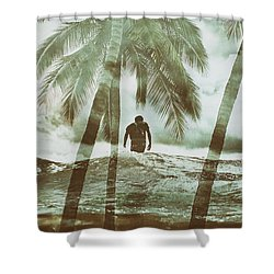 Izzy Jive And Palms Shower Curtain