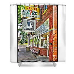 J And G Pizza Palace Shower Curtain